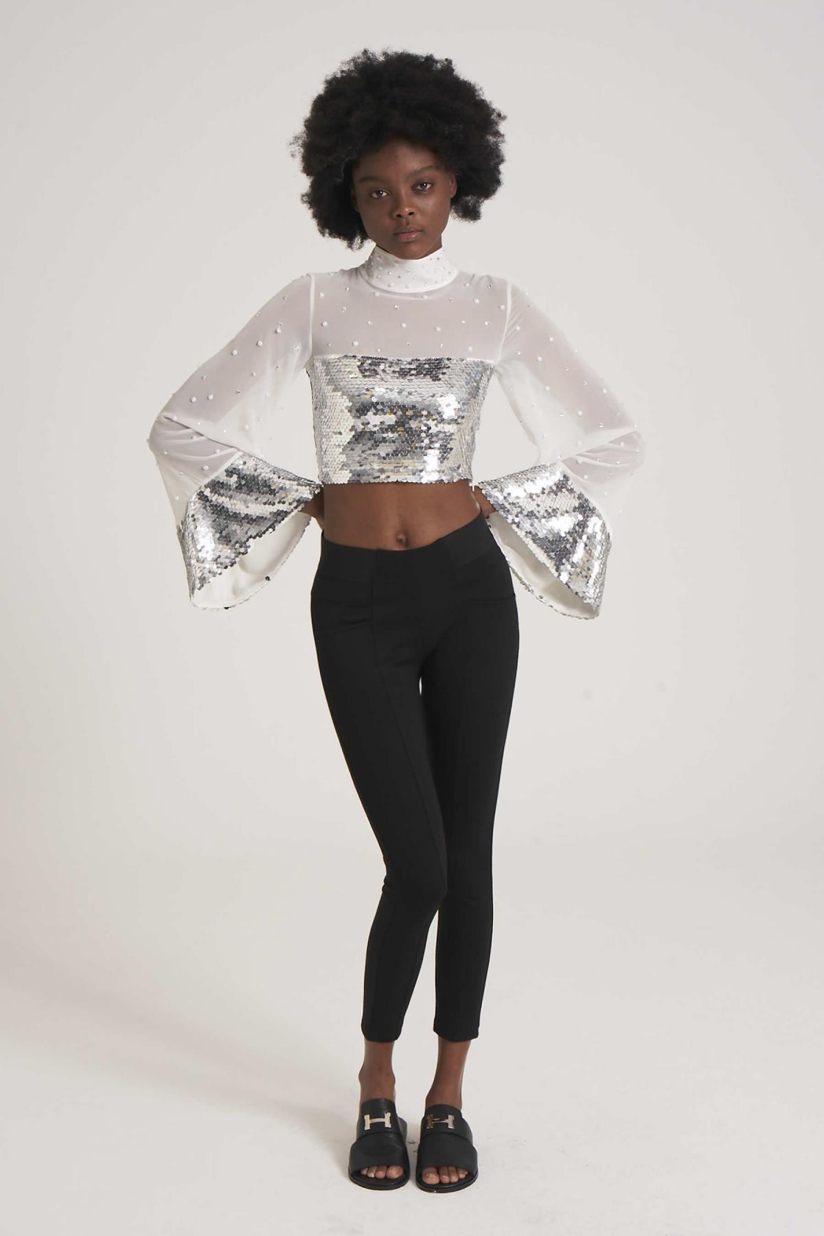 Slim Fit 70% Viscose Trousers newces-1012-B