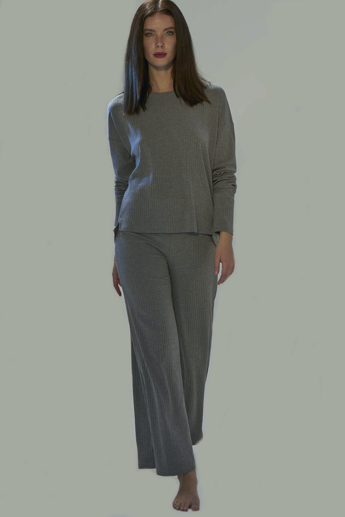 Wide Leg Camisole Trousers Newces-1055-GM