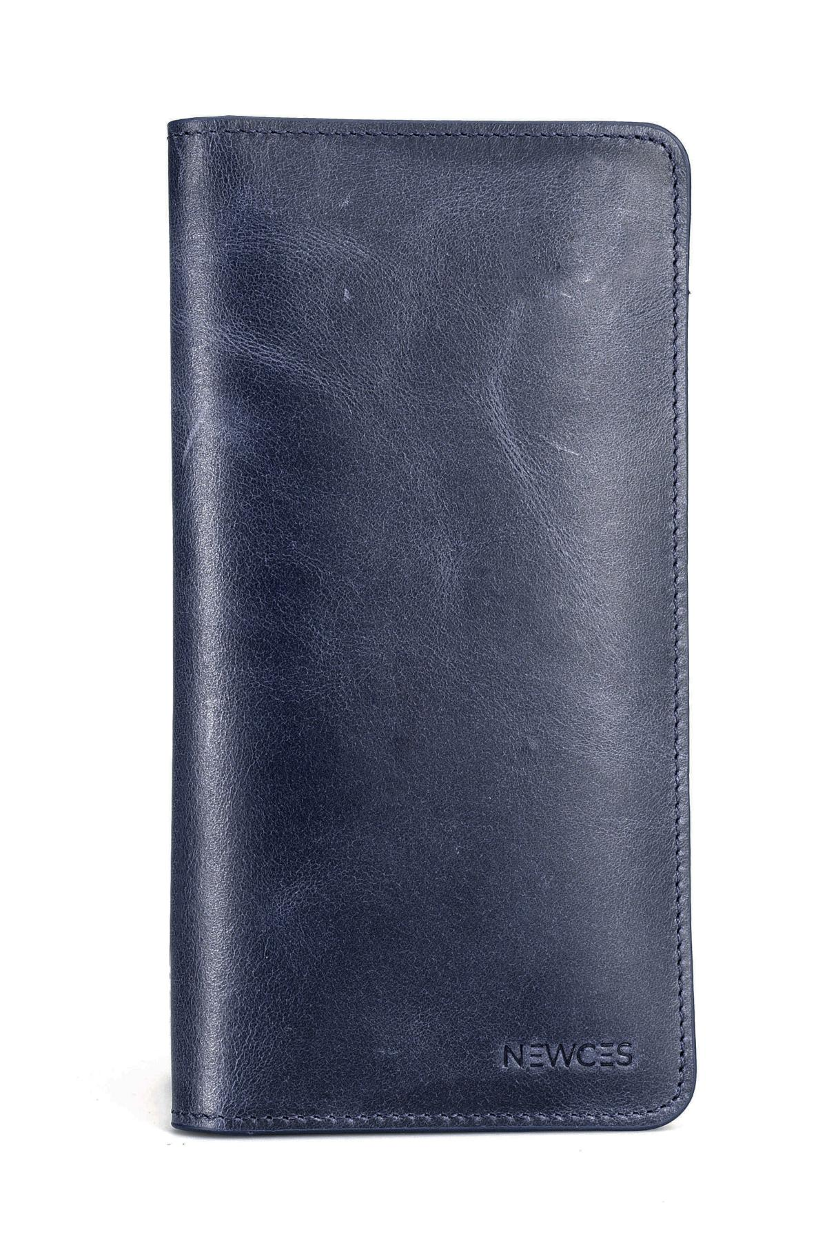 Unisex Card Holder Wallet with Mobile Phone Compartment newces-009-BN