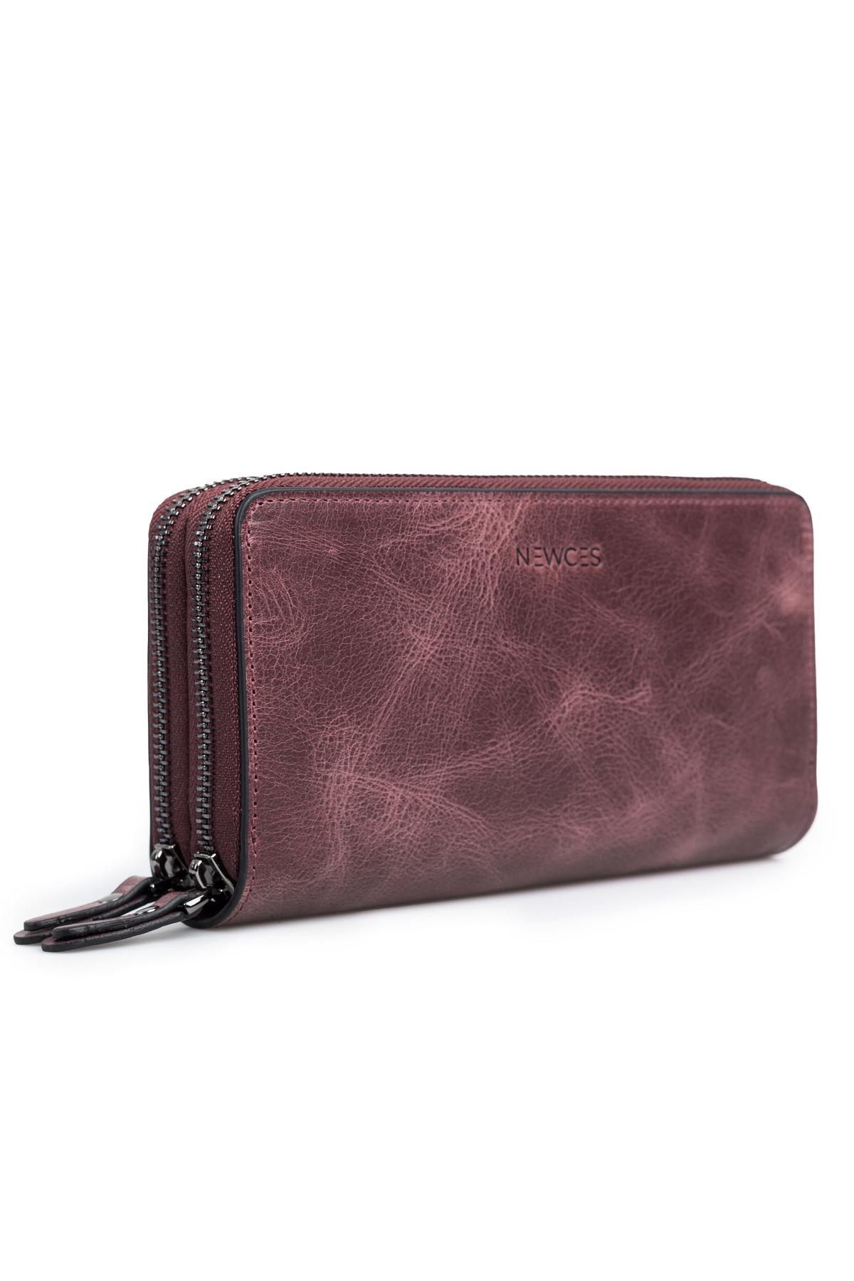 Double Zipper Money Portfolio Bag newces-007-BO