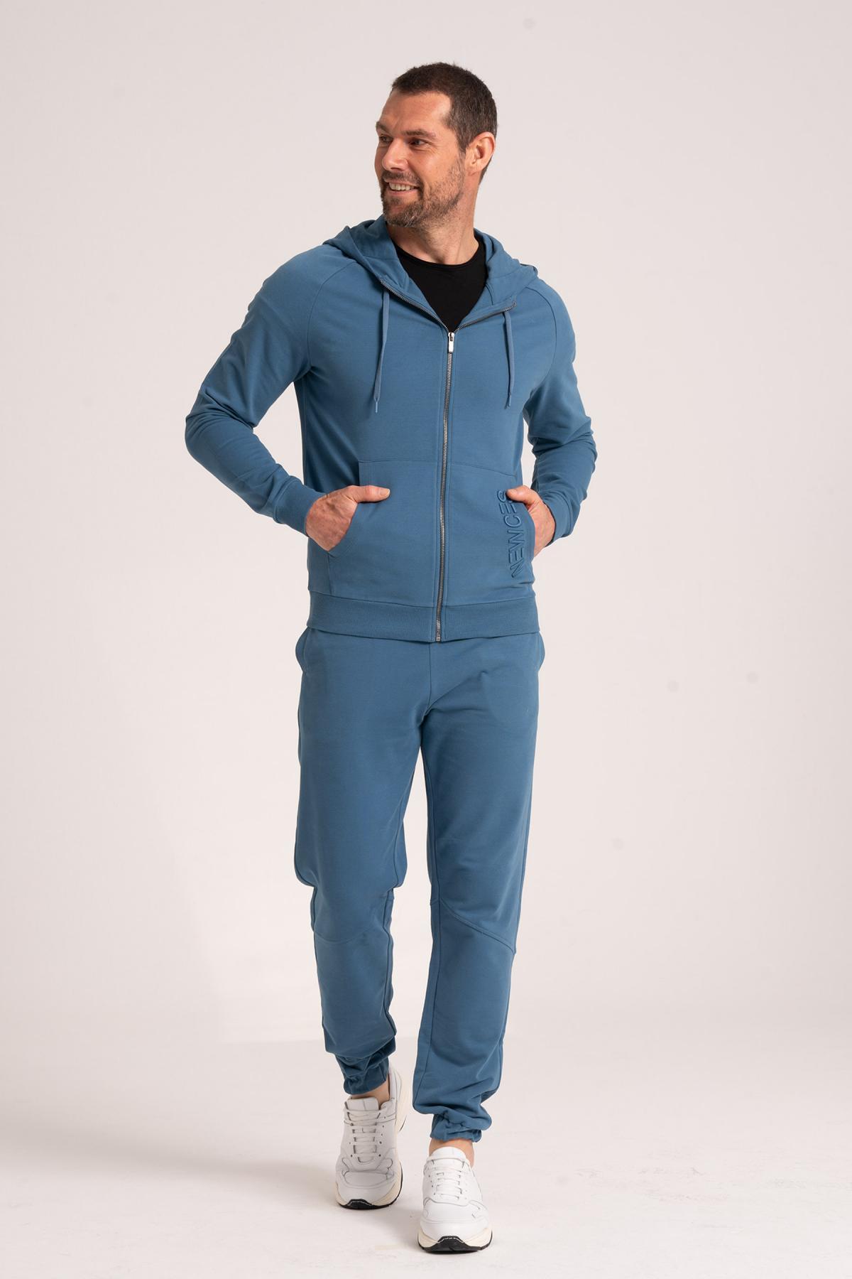 Zippered Sweatshirt newces-5009-BL