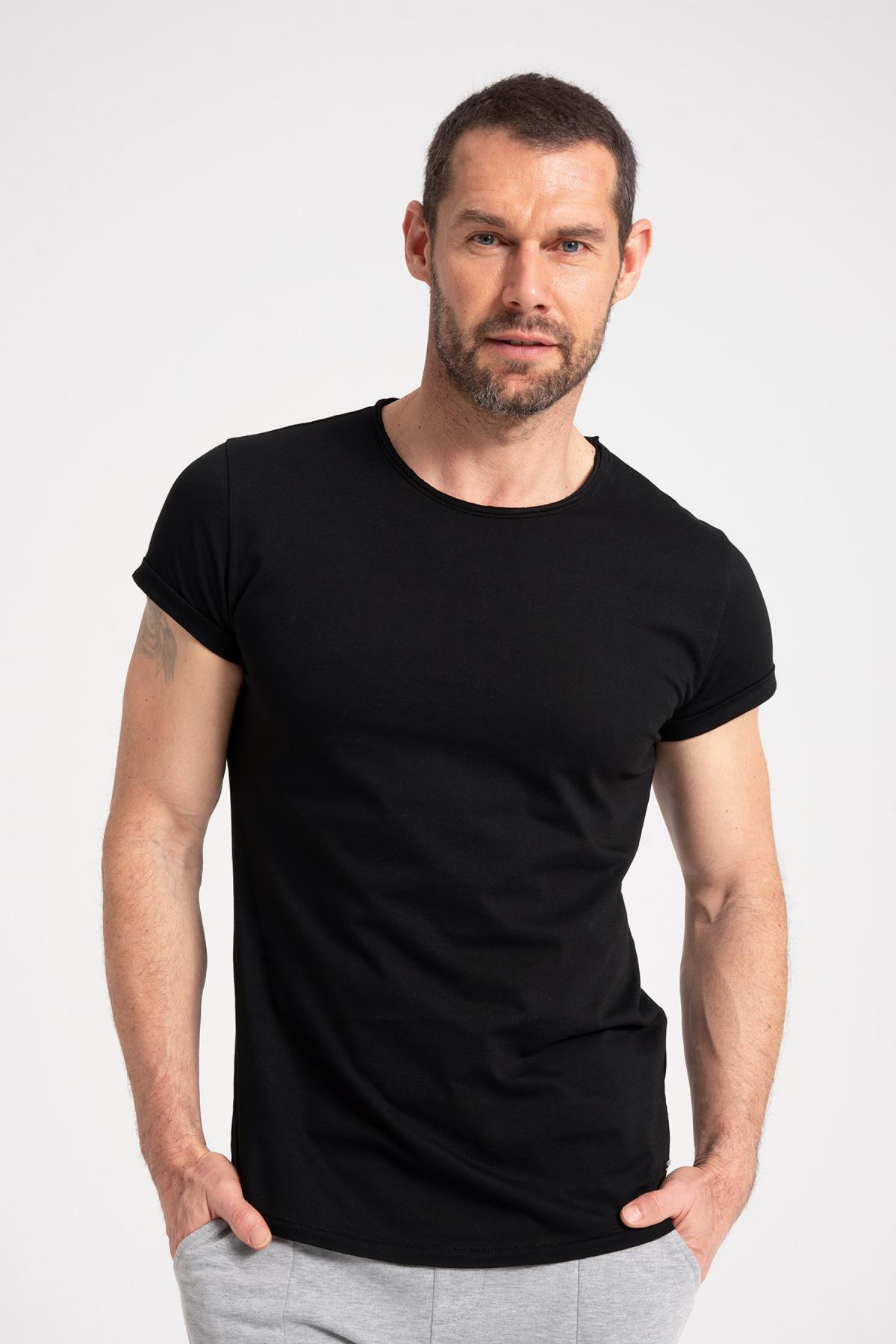 Round Neck T-Shirt 100% Cotton newces-5001-B