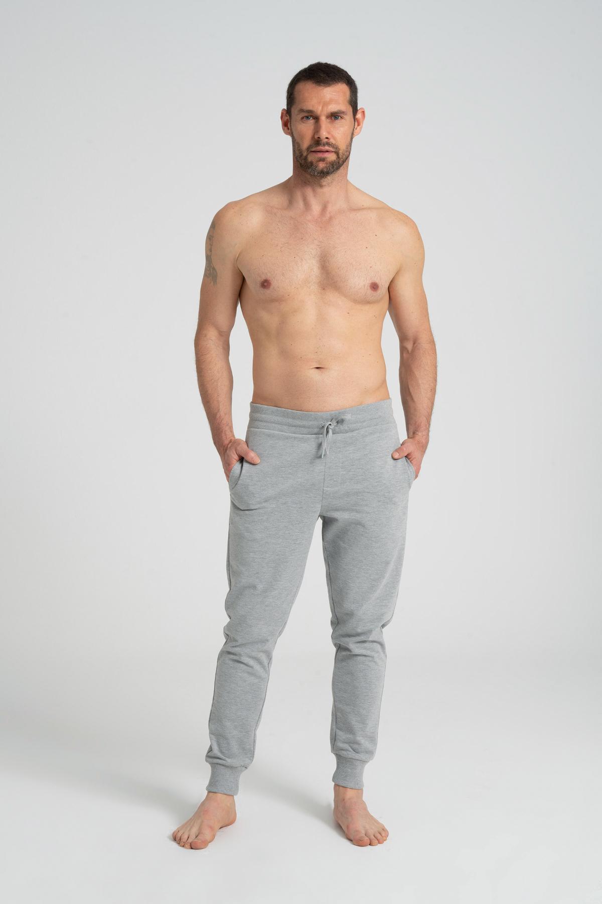 Normal Fit Men's Sweatpants newces-5007-GM