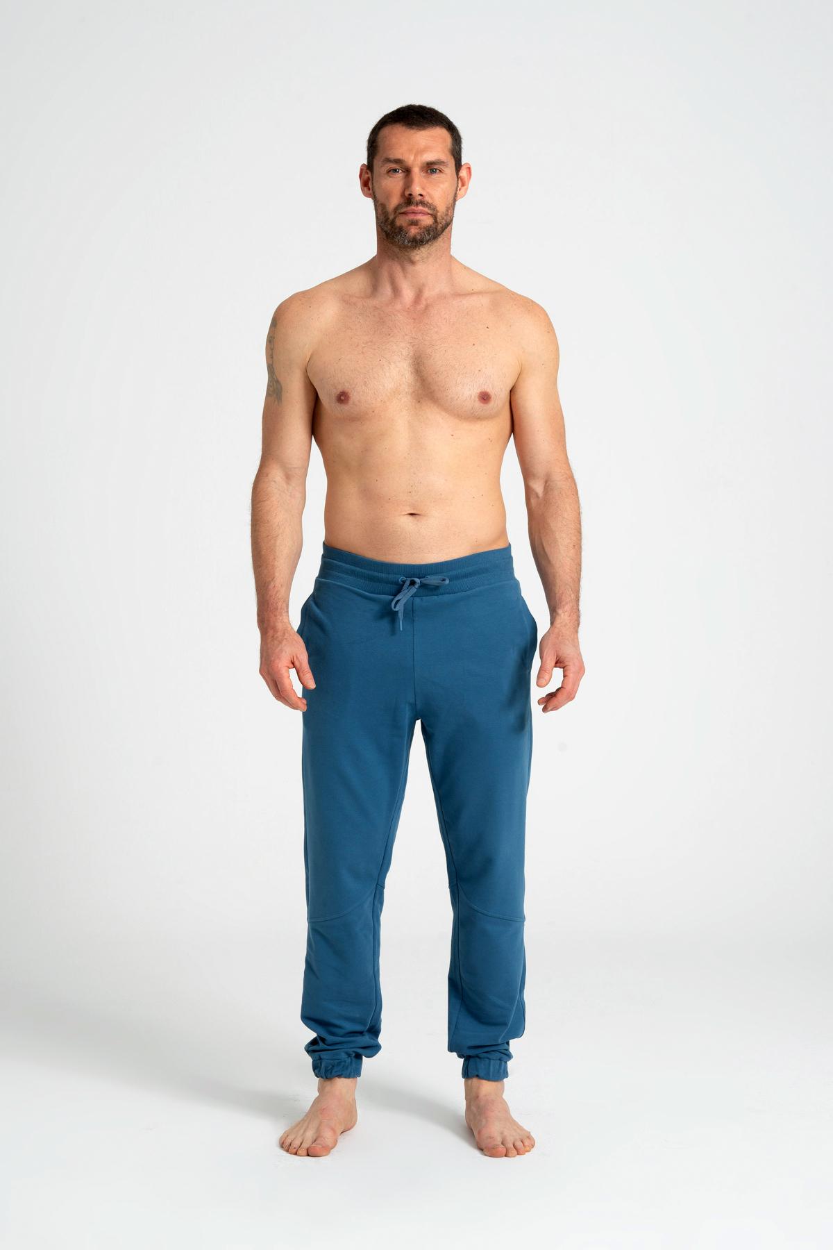 Ribana Waist Men's Sweatpants newces-5012-BL