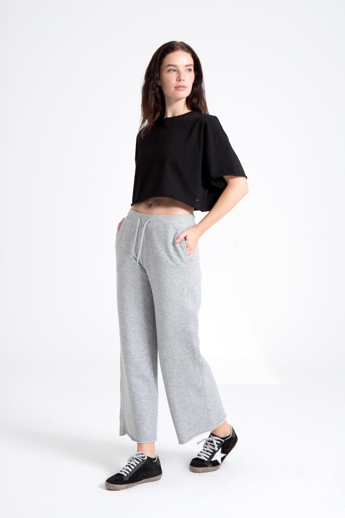 Wide Cut Women's Trousers newces-1037-GM